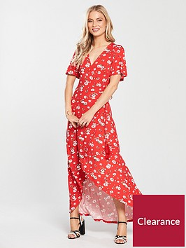 v-by-very-petite-dip-back-wrap-jersey-maxi-dress-red-floral
