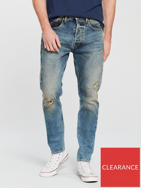 aafc9bb6b Tommy Jeans Modern Tapered Jean - Davie Dirt Blue | very.co.uk