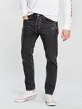 Tommy Jeans Modern Tapered Jean, Paddock Black, Size 34, Inside Leg Regular, Men thumbnail