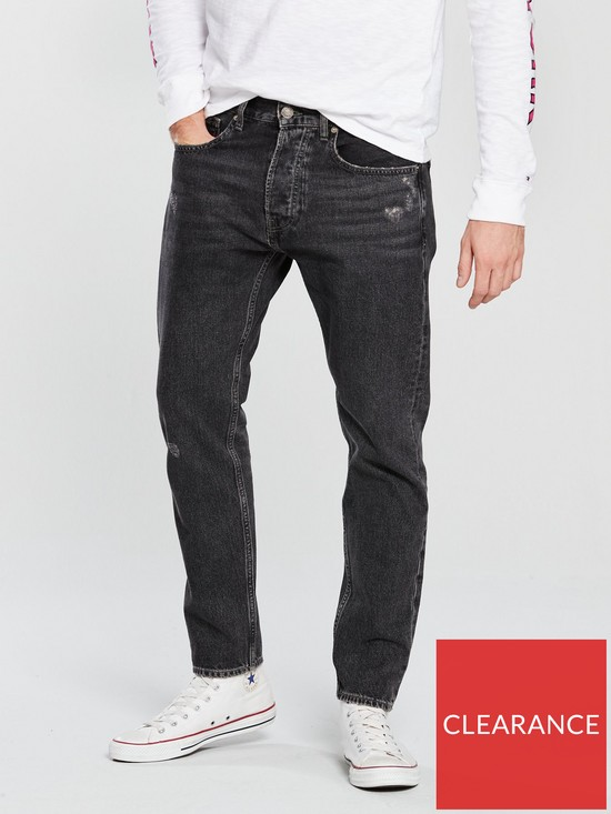 05328cff Tommy Jeans Modern Tapered Jean - Paddock Black | very.co.uk