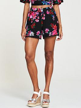 v-by-very-cotton-pom-trim-shorts-print