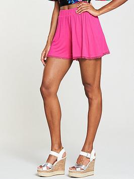 v-by-very-cotton-pom-trim-shorts-pink