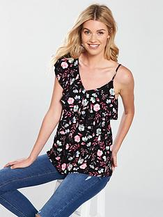 v-by-very-asymmetric-swing-vest-florals