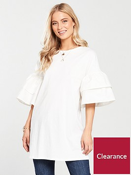 v-by-very-tiered-sleeve-tunic-ivory