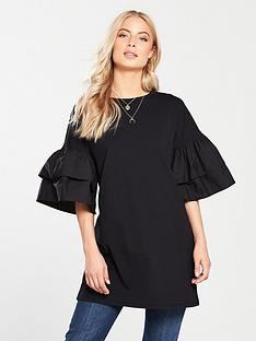 v-by-very-tiered-sleeve-tunic-black