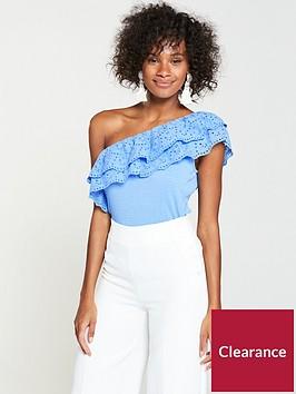 v-by-very-one-shoulder-broderie-anglais-top-soft-blue