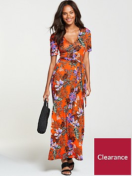 v-by-very-petite-deep-v-jersey-maxi-dress-tropical-print