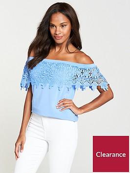 v-by-very-scallop-lace-bardot-top-soft-blue