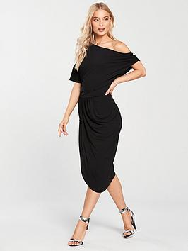 v-by-very-drape-off-the-shoulder-jersey-dress-black