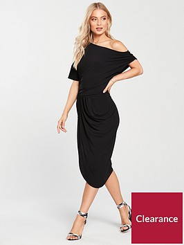 v-by-very-drape-off-the-shoulder-jersey-dress-black