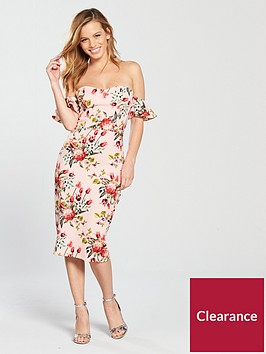 v-by-very-petite-printed-scuba-bodycon-dress