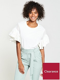 v-by-very-chiffon-frill-sleeve-t-shirt-white