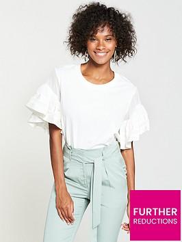 v-by-very-chiffon-frill-sleeve-t-shirt-white