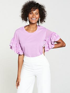 v-by-very-chiffon-frill-sleeve-t-shirt-lilac