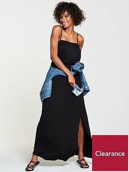 v-by-very-macrame-trim-jersey-maxi-dress-black