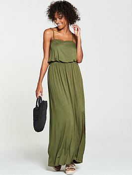 v-by-very-macrame-trim-jersey-maxi-dress-khaki