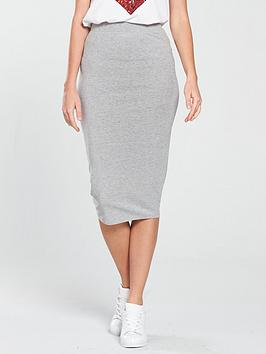 v-by-very-midi-basic-bodycon-skirt-grey