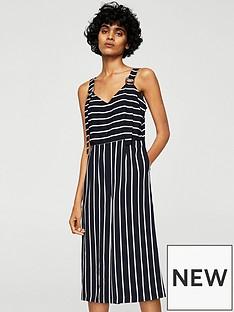 mango-cropped-stripe-jumpsuit