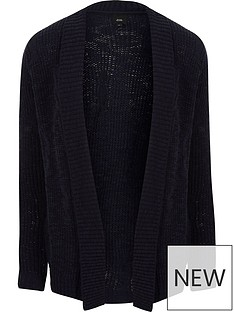river-island-big-amp-tall-cable-cardigan