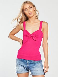 v-by-very-tie-front-vest-pink