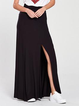 v-by-very-split-front-maxi-skirt-black