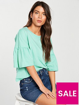 v-by-very-frill-sleeve-slouchy-t-shirt-spearmint