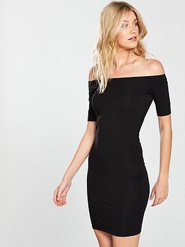 v-by-very-basic-bardot-jersey-dress-black