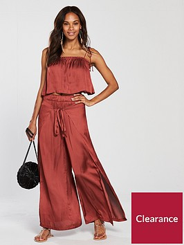v-by-very-co-ord-beach-wrap-trousers-amp-cami-top-set-red