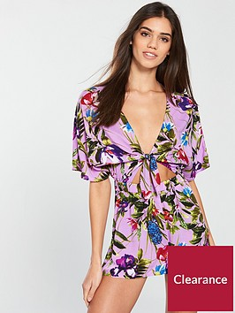 v-by-very-woven-tie-front-playsuit-floral-print