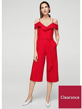 mango-bow-ruffled-jumpsuit-red