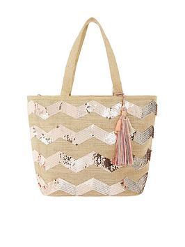 accessorize-sequin-chevron-beach-bag-natural