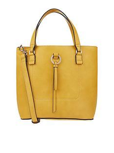 accessorize-double-handle-bucket-bag-yellow