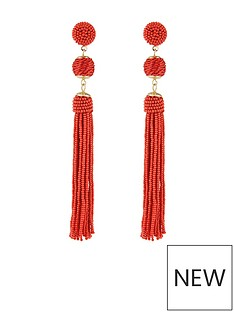 accessorize-accessorize-beaded-tassel-and-ball-statement-earrings