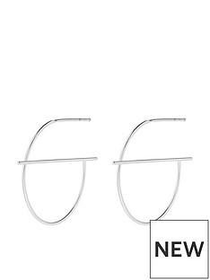 accessorize-accessorize-sterling-silver-strike-through-hoop-earrings