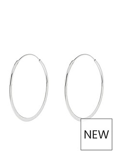 accessorize-accessorize-sterling-silver-textured-hoop-earrings