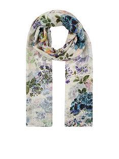 accessorize-peony-floral-silk-stole