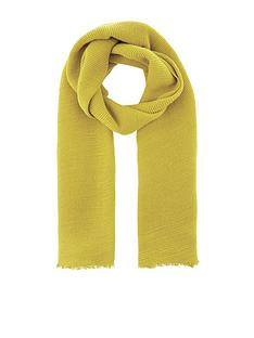 accessorize-lily-ribbed-scarf-limenbsp