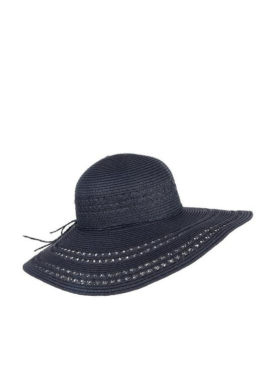 d3a25948 Accessorize Bow Trim Floppy Hat - Navy | very.co.uk