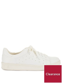 miss-selfridge-white-perferated-trainer