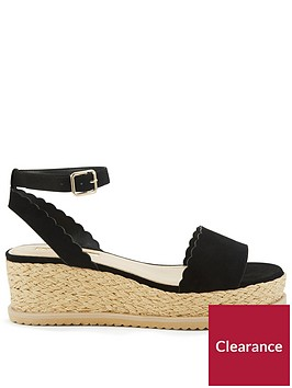 miss-selfridge-scalloped-flatform-sandal-blacknbsp