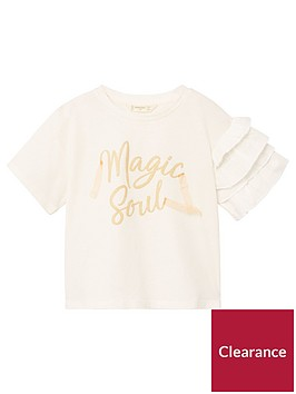 mango-girls-ruffle-sleeve-slogan-t-shirt