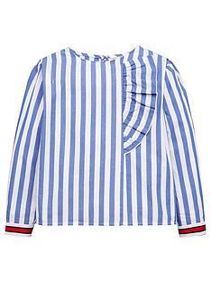 mango-girls-ruffle-stripe-blouse