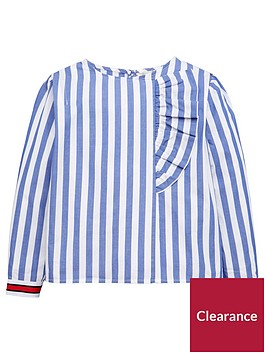 mango-girls-ruffle-stripe-blouse