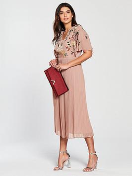 frock-and-frill-binanbspv-neck-pleated-skirt-midi-dress