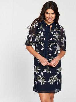 Frock And Frill Camile Embroidered Cape Dress
