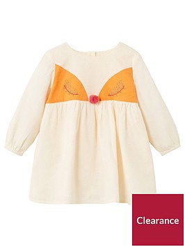 mango-baby-girls-fox-applique-dress-ecru