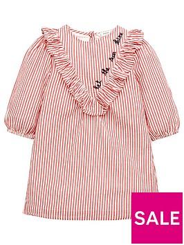 mango-girls-stripe-ruffle-textured-dress