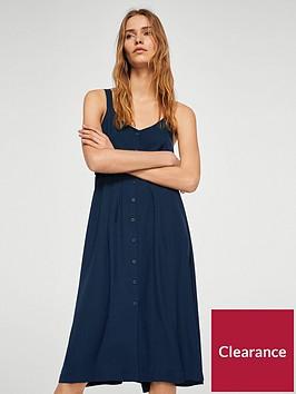 mango-buttoned-bow-dress