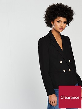 miss-selfridge-military-suit-blazer