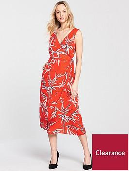 warehouse-bamboo-midi-dress-rednbsp